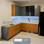 Testimoni Terbaru Gambar Kitchen Set Minimalis Two Tone HPL Project Cluster Serenade Lake Gading Serpong